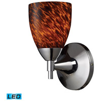 Celina LED 6 inch Polished Chrome Wall Sconce Wall Light in Espresso Glass