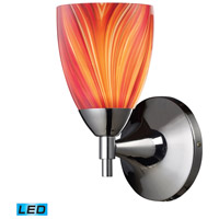 ELK Lighting Celina 1 Light LED Wall Sconce in Polished Chrome with Multi Glass 10150/1PC-M-LED