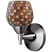 Celina 1 Light 6 inch Polished Chrome Sconce Wall Light in Standard, Multi Mosaic Glass