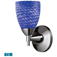 ELK 10150/1PC-S-LED Celina LED 6 inch Polished Chrome Wall Sconce Wall Light in Sapphire Glass