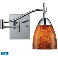 ELK Lighting Celina 1 Light Swingarm Sconce in Polished Chrome 10151/1PC-ES-LED