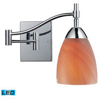 ELK Lighting Celina 1 Light Swingarm Sconce in Polished Chrome 10151/1PC-SY-LED