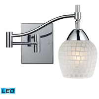 ELK Lighting Celina 1 Light Swingarm Sconce in Polished Chrome 10151/1PC-WHT-LED