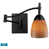 Celina 22 inch 13.5 watt Dark Rust Swingarm Sconce Wall Light in LED, Cocoa Glass