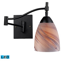 Celina 22 inch 13.5 watt Dark Rust Swingarm Sconce Wall Light in LED, Creme Glass