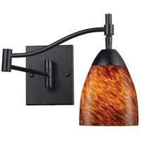ELK 10151/1DR-ES Celina 22 inch 60 watt Dark Rust Swingarm Wall Light in Standard, Espresso Glass photo thumbnail