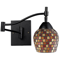 Celina 22 inch 60 watt Dark Rust Swing Arm Sconce Wall Light in Multi Mosaic Glass, Incandescent
