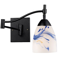 Celina 22 inch 60 watt Dark Rust Swingarm Sconce Wall Light in Mountain Glass, Incandescent