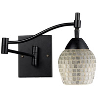 ELK 10151/1DR-SLV Celina 22 inch 60 watt Dark Rust Swingarm Wall Light in Standard, Silver Mosaic Glass photo thumbnail