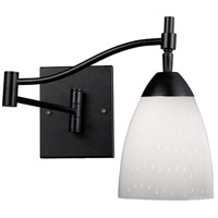 Celina 22 inch 60 watt Dark Rust Swing Arm Sconce Wall Light in Simply White Glass, Incandescent