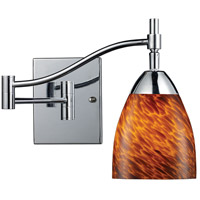Celina 22 inch 60 watt Polished Chrome Swingarm Sconce Wall Light in Espresso, Incandescent