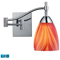 Celina 22 inch 13.5 watt Polished Chrome Swingarm Sconce Wall Light in LED, Multi Glass