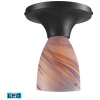 ELK Lighting Celina 1 Light Semi-Flush Mount in Dark Rust 10152/1DR-CR-LED