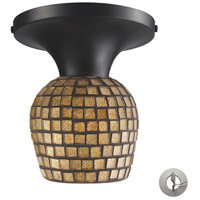 ELK Lighting Celina 1 Light Semi-Flush Mount in Dark Rust 10152/1DR-GLD-LA
