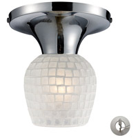 ELK Lighting Celina 1 Light Semi-Flush Mount in Polished Chrome 10152/1PC-WHT-LA