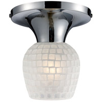 ELK Lighting Celina 1 Light Semi-Flush Mount in Polished Chrome 10152/1PC-WHT