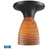 ELK 10152/1DR-C-LED Celina LED 7 inch Dark Rust Semi Flush Mount Ceiling Light in Cocoa, Standard