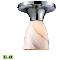 Celina LED 7 inch Polished Chrome Semi-Flush Mount Ceiling Light in Creme Glass, Standard