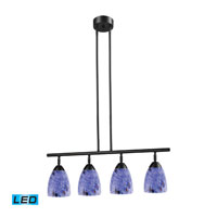 ELK Lighting Celina 4 Light Billiard/Island in Dark Rust 10153/4DR-BL-LED