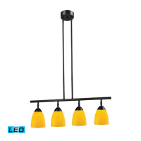 ELK Lighting Celina 4 Light Billiard/Island in Dark Rust 10153/4DR-CN-LED