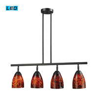 ELK Lighting Celina 4 Light Billiard/Island in Dark Rust 10153/4DR-ES-LED