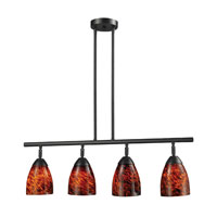 ELK 10153/4DR-ES Celina 4 Light 30 inch Dark Rust Island Light Ceiling Light in Standard, Espresso Glass photo thumbnail