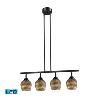 ELK Lighting Celina 4 Light Billiard/Island in Dark Rust 10153/4DR-GLD-LED