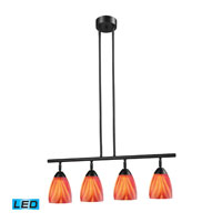 ELK Lighting Celina 4 Light Billiard/Island in Dark Rust 10153/4DR-M-LED