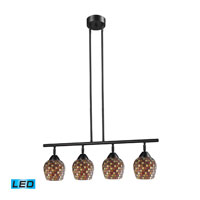 ELK Lighting Celina 4 Light Billiard/Island in Dark Rust 10153/4DR-MLT-LED