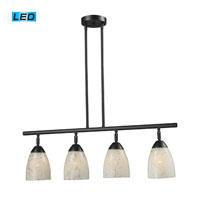 Celina LED 30 inch Dark Rust Billiard/Island Ceiling Light in Snow White Glass