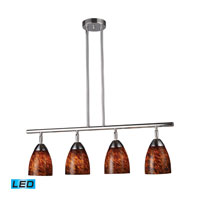 Celina LED 30 inch Polished Chrome Billiard/Island Ceiling Light in Espresso Glass