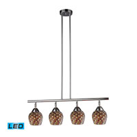 ELK Lighting Celina 4 Light Billiard/Island in Polished Chrome 10153/4PC-MLT-LED