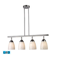 ELK Lighting Celina 4 Light Billiard/Island in Polished Chrome 10153/4PC-SW-LED