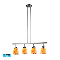 ELK Lighting Celina 4 Light Billiard/Island in Polished Chrome 10153/4PC-YW-LED