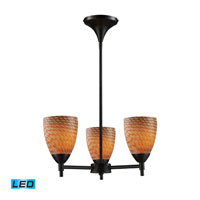 Celina LED 18 inch Dark Rust Chandelier Ceiling Light in Cocoa Glass, Standard