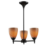 ELK Lighting Celina 3 Light Chandelier in Dark Rust 10154/3DR-C