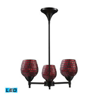 Celina LED 18 inch Dark Rust Chandelier Ceiling Light in Copper Mosaic Glass, Standard