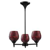 ELK Lighting Celina 3 Light Chandelier in Dark Rust 10154/3DR-CPR