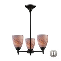 Celina 3 Light 18 inch Dark Rust Chandelier Ceiling Light in Incandescent, Creme Glass, Recessed Adapter Kit