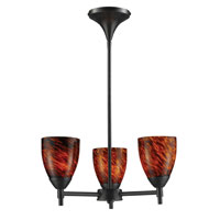 ELK Lighting Celina 3 Light Chandelier in Dark Rust 10154/3DR-ES