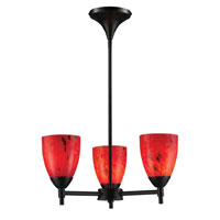 ELK Lighting Celina 3 Light Chandelier in Dark Rust 10154/3DR-FR