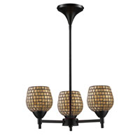 ELK Lighting Celina 3 Light Chandelier in Dark Rust 10154/3DR-GLD