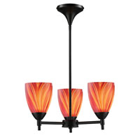ELK 10154/3DR-M Celina 3 Light 18 inch Dark Rust Chandelier Ceiling Light  photo thumbnail