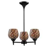 ELK Lighting Celina 3 Light Chandelier in Dark Rust 10154/3DR-MLT