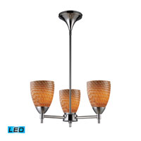 Celina LED 18 inch Polished Chrome Chandelier Ceiling Light in Cocoa Glass, Standard