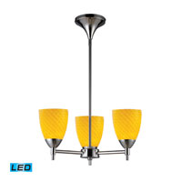 Celina LED 18 inch Polished Chrome Chandelier Ceiling Light in Canary Glass, Standard