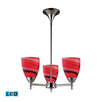 ELK Lighting Celina 3 Light Chandelier in Polished Chrome 10154/3PC-CY-LED