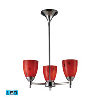 ELK Lighting Celina 3 Light Chandelier in Polished Chrome 10154/3PC-FR-LED