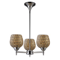 ELK Lighting Celina 3 Light Chandelier in Polished Chrome 10154/3PC-GLD