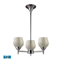 ELK Lighting Celina 3 Light Chandelier in Polished Chrome 10154/3PC-SLV-LED